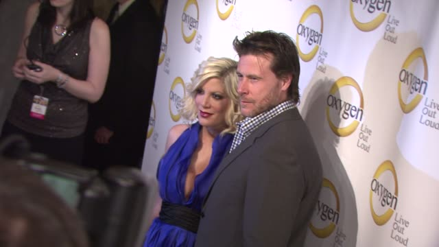 tori spelling and dean mcdermott at the oxygen media's 2011 upfront presentation at new york ny - tori spelling stock videos and b-roll footage