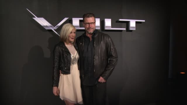 tori spelling and dean mcdermott at the west coast reveal of the new 2016 next generation chevrolet volt at quixote studios on january 12 2015 in los... - tori spelling stock videos and b-roll footage
