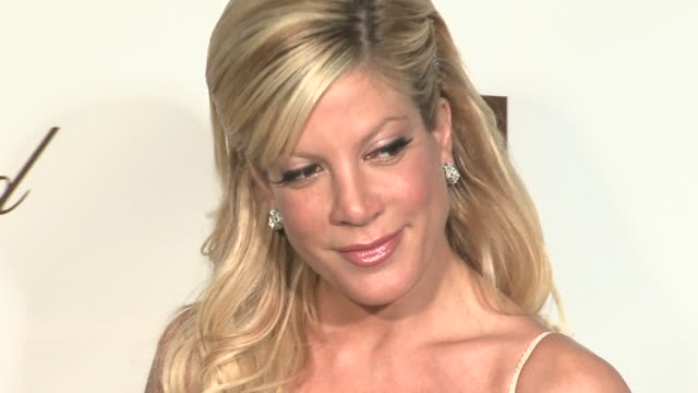 Tori Spelling at the 14th Annual Elton John AIDS Foundation Oscar Party Cohosted by Audi Chopard and VH1 at the Pacific Design Center in West...