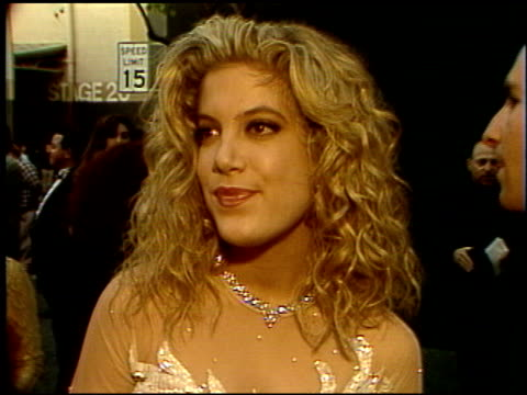 tori spelling at the 1992 people's choice awards at universal studios in universal city, california on march 1, 1992. - tori spelling stock videos & royalty-free footage