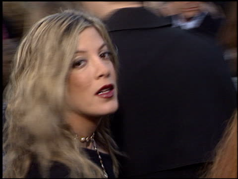 tori spelling at the premiere of 'the matrix reloaded' on may 7 2003 - tori spelling stock videos and b-roll footage