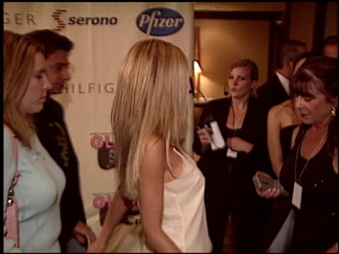tori spelling at the race to erase at the century plaza hotel in century city, california on may 14, 2004. - tori spelling stock videos & royalty-free footage