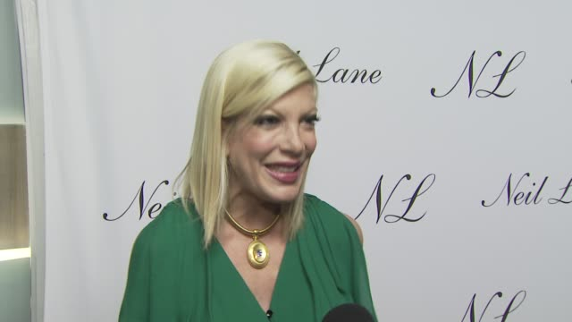 Tori Spelling on attending tonight's event on the appeal of Neil's jewelry on the jewelry she's wearing and on her well wishes to Neil and his store...