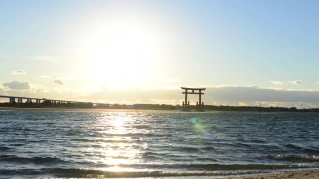 torii at sunset - hamamatsu stock videos and b-roll footage