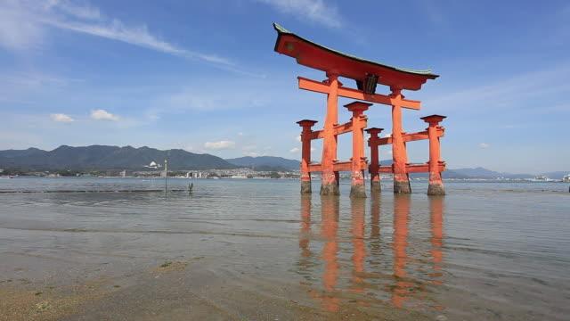 MS Torii gate at Itsukushima shrine / Itsukushima, Hiroshima, Japan