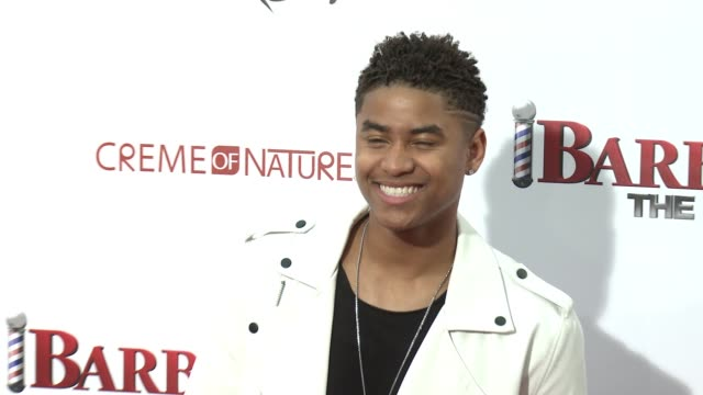 stockvideo's en b-roll-footage met torion sellers at barbershop the next cut los angeles premiere at tcl chinese theatre on april 06 2016 in hollywood california - tcl chinese theatre