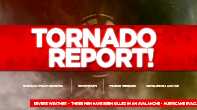 tornado alert broadcast tv graphics title - broadcasting stock videos & royalty-free footage