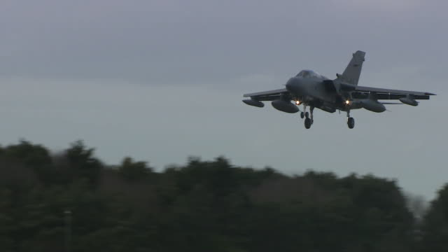 tornado coming into land after a farewell flypast before it is retired - air force stock videos & royalty-free footage