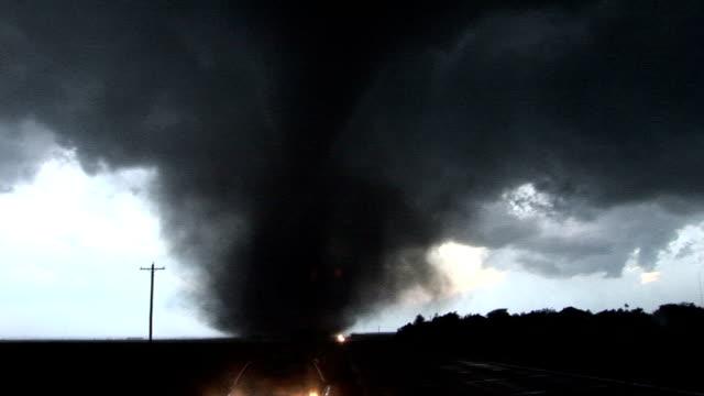 Tornado crosses road as it grows and intensifies Aurora Nebraska