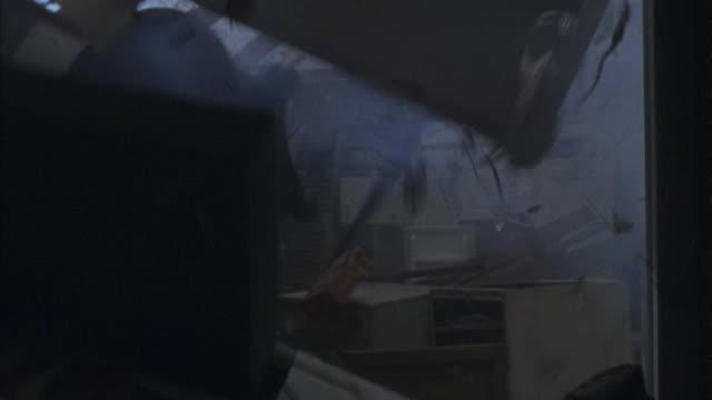 a tornado destroys a home. - rubble stock videos & royalty-free footage