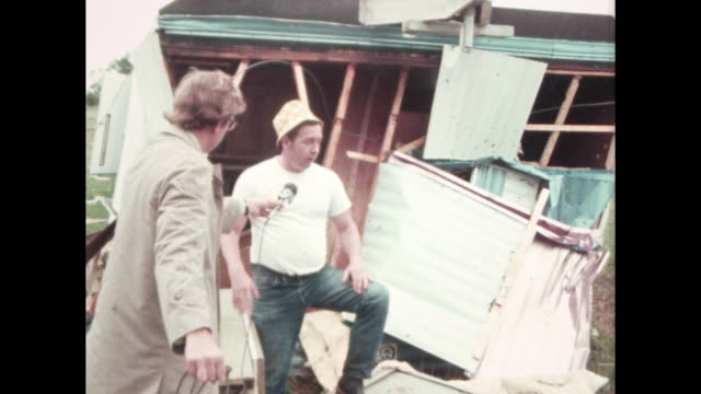 tornado destruction interviewed of trailer home residents mobile home park destroyed - trailer home stock videos & royalty-free footage