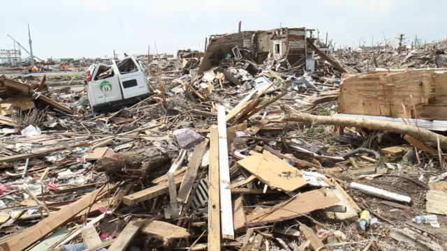 tornado devastation - accidents and disasters stock videos and b-roll footage