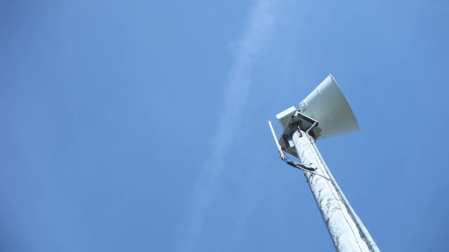tornado emergency warning siren stops - danger stock videos & royalty-free footage
