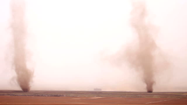 Tornado flowing on the field in Gansu province, China