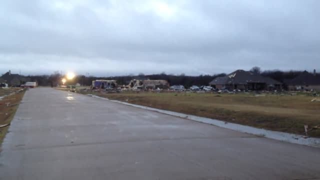 tornado hit residential waxahachie, texas, and damaged 13 homes near reese ct. and faith lane. - dramatic landscape stock videos & royalty-free footage