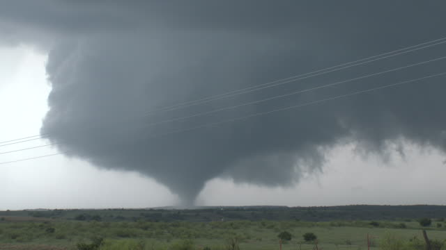 tornado on the ground, picturesque supercell thunderstorm & wall cloud - blowhole stock videos & royalty-free footage