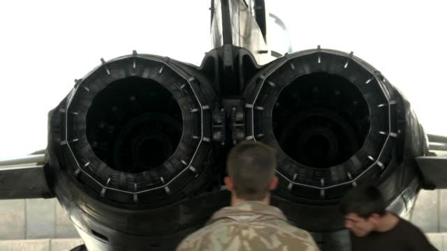 stockvideo's en b-roll-footage met tornado preparing and taking off for a mission at kandahar air field in support of operation enduring freedom - operation enduring freedom