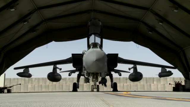 RAF Tornado preparing and taking off for a mission at Kandahar Air Field in support of Operation Enduring Freedom