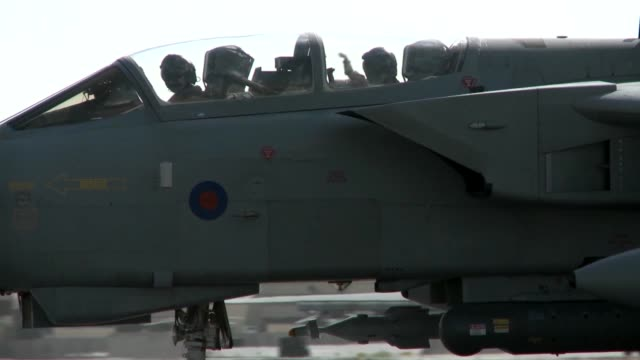 stockvideo's en b-roll-footage met raf tornado preparing and taking off for a mission at kandahar air field in support of operation enduring freedom - operation enduring freedom