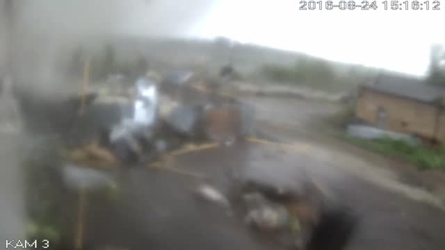 tornado was reported to have passed through the russian city of syktyvkar, the capital of the eastern komi republic, on the afternoon of august 24.... - roof stock videos & royalty-free footage