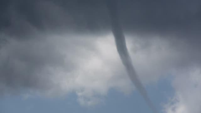 a tornado water spout casued by a severe thunder storm over sivota, greece, - spiral stock videos & royalty-free footage