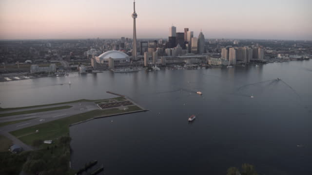 toronto aerial - toronto stock videos & royalty-free footage