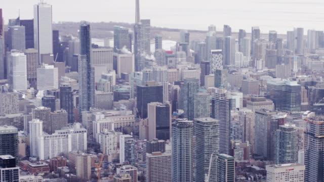 Toronto Canada Aerial City Skyline