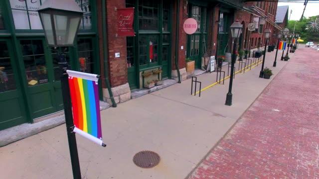 Toronto Canada: Distillery District, heritage historic place