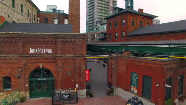 toronto canada: distillery district, heritage historic place - distillery stock videos and b-roll footage