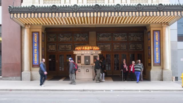 toronto, canada, facade of elgin and winter garden theatres - performing arts event stock videos & royalty-free footage