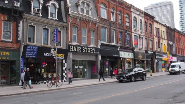 Toronto, Canada, low rise historic buildings in Yonge street