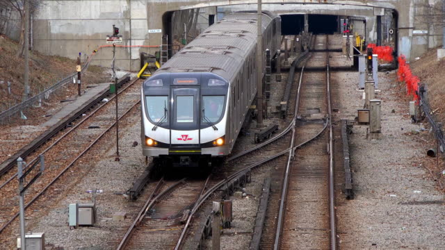 Toronto, Canada: New Bombardier subway trains in the TTC public transportation system of the Canadian city