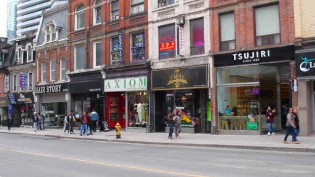 Toronto, Canada, old buildings in Yonge street
