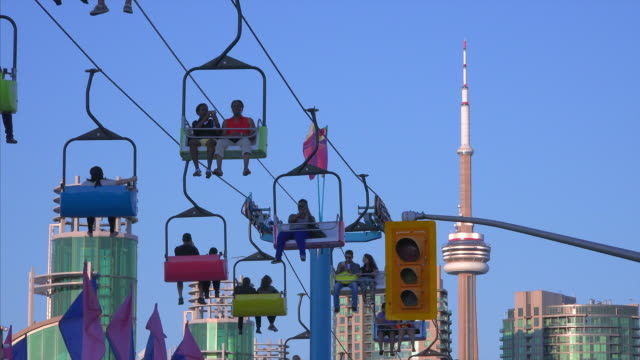 Toronto, Canada, the CN Tower seen from Exhibition Place