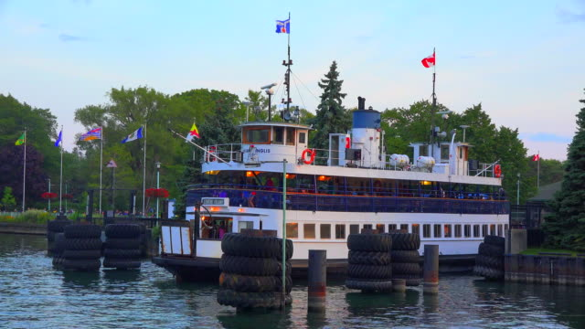 Toronto, Canada: The old ferry serving the transportation between the city and the centre island