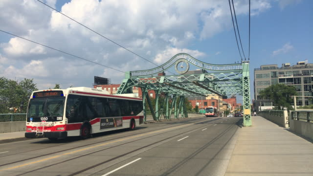 Toronto, Canada: The Queen Street Viaduct in daytime