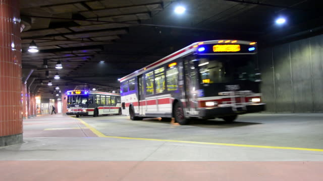Toronto Canada: TTC buses at the Don Mills station