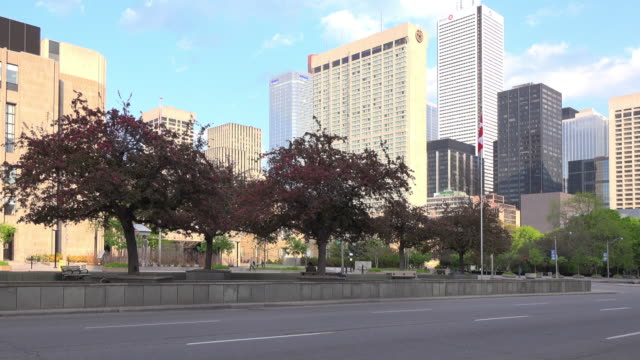 toronto, canada: university avenue during the daytime - ontario canada stock videos & royalty-free footage