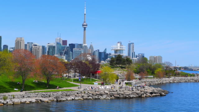 Toronto Canada: urban skyline including the CN Tower during the daytime
