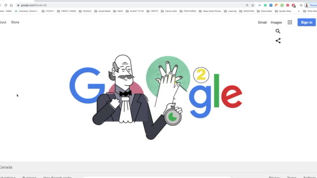 toronto, canada-march 20, 2020: googles recognizes ignaz philipp semmelweis a hungarian physician and scientist, now known as an early pioneer of... - search engine stock videos & royalty-free footage