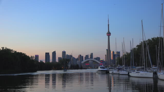 Toronto City Skyline in the Afternoon. Canada Travel Landmarks
