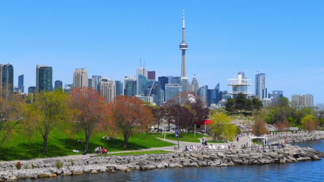 Toronto city skyline in the daytime, Canada