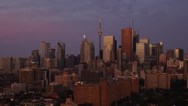 Lever du soleil de Toronto cityscape timelapse