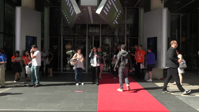Toronto International Film Festival General view of the Bell Lightbox entrance with red carpet and general public moving around