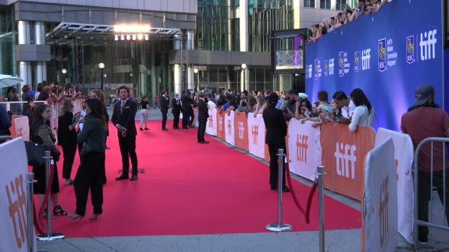 toronto international film festival or tiff general view of the red carpet in the roy thompson theatre - toronto international film festival stock videos and b-roll footage