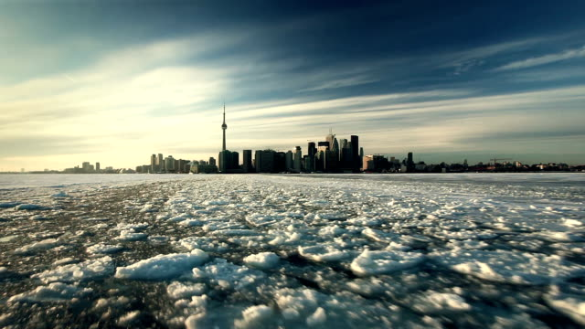 toronto on ice - toronto stock-videos und b-roll-filmmaterial