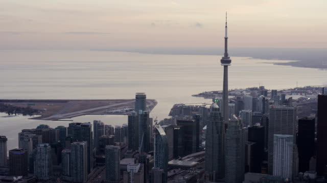 Toronto, Ontario, Canada Aarial View from Helicopter