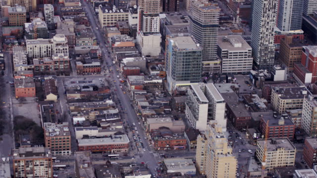 toronto, ontario, canada aarial view from helicopter - toronto stock videos & royalty-free footage