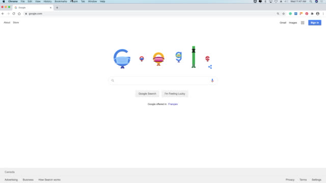 toronto, ontario, canada-august 5, 2020: the google doodle in the famous search engine is showing its letters wearing masks. when clicked it leads to... - searching stock videos & royalty-free footage