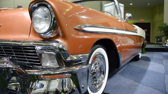 toronto, ontario, canada-february 22, 2014: a cream-colored chevrolet detail. the canadian international auto show is a traditional annual event held... - cream coloured stock videos & royalty-free footage